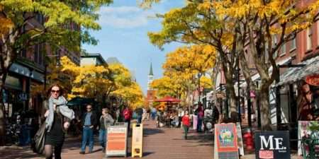 Burlington Vermont street scene